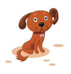 cute cartoon dog vector image