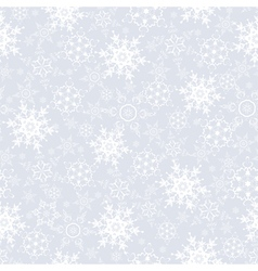 Festive seamless pattern with snowflakes vector image