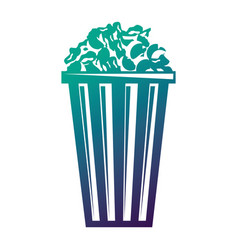 movie bucket pop corn food snack icon vector image