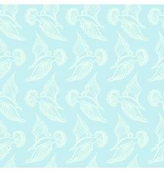 Seagull bird drawing Summer sea seamless pattern vector image