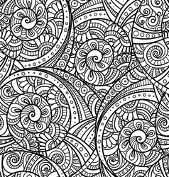 Seamless pattern with floral doodle elements vector image