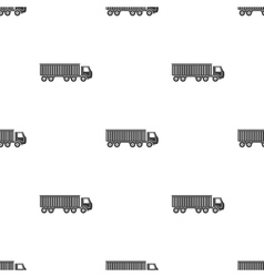 Truck delivery icon in black style isolated on vector image