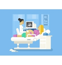 Ultrasound of a pregnant woman vector image vector image