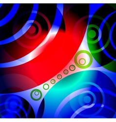 Abstract Glowing Circles Background vector image vector image