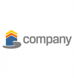 house security on hand logo vector image