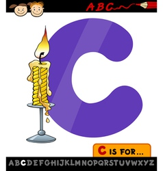 letter c with candle cartoon vector image vector image