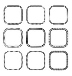 rope set of square frames collection of thick and vector image vector image