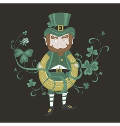 Saint Patrick is holding a horseshoe vector image vector image