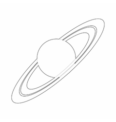 Saturn planet icon outline style vector image vector image