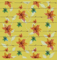 floral seamless pattern with blooming vector image vector image