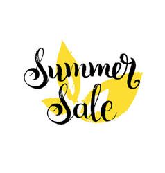 handwritten summer sale on vector image