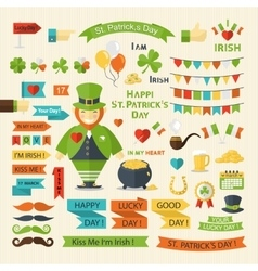 Happy St Patricks Day set vector image