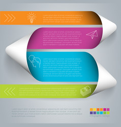 step by step template vector image vector image