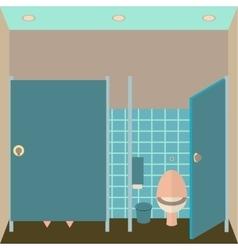 Toilet interior lavatory in vector