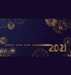 2021 golden lines design vector image