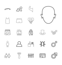 22 male icons vector