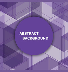 Abstract background with purple hexagon vector