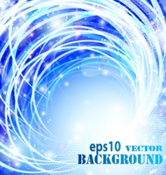 abstract blue curves background vector image vector image