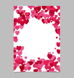 abstract chaotic heart page template design vector image