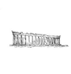 Acropolis of athens the parthenon athens greece vector