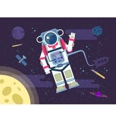 an astronaut or cosmonaut flying vector image