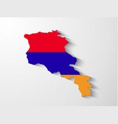 Armenia map with shadow effect vector image