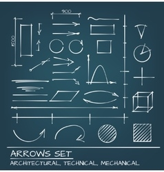 Arrows Hand Drawn Set vector image vector image