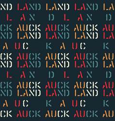 Auckland seamless pattern vector