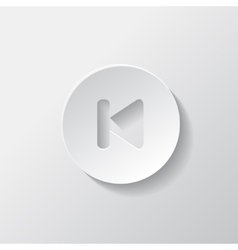 Back track web iconMedia player vector