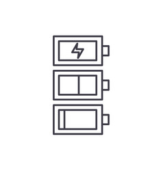battery charge line icon concept battery charge vector image