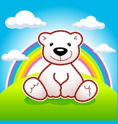 Bear rainbow vector