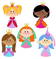 Beautiful girl princesses vector