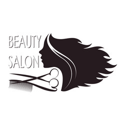 Beauty salon silhouette for business vector