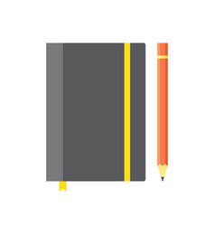 blank copybook template with elastic band and vector image