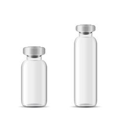 Blank glass medical bottle vector