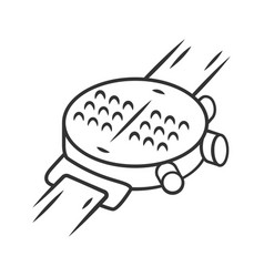 Braille smartwatch linear icon dot watch wrist vector