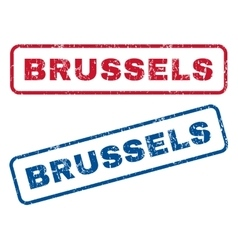 Brussels Rubber Stamps vector