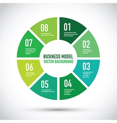 business model set vector image