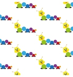 Caterpillar Baby toy Pattern vector