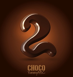 Chocolate dark 3d typeset vector