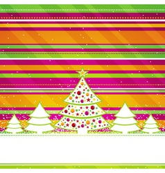 christmas card with forest of pine vector image