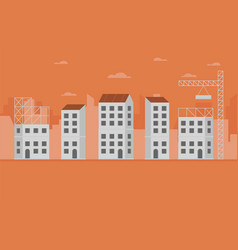 concept of city construction buildings vector image