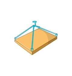 Construction crane with platform icon vector