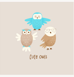 cute owl vector image