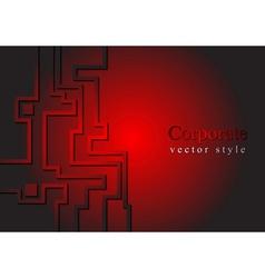 Dark red hi-tech striped design vector image