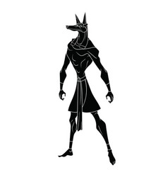 Egyptian god anubis on a white background vector