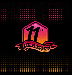 Eleven years anniversary celebration logotype vector