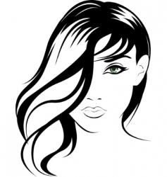female portrait vector image