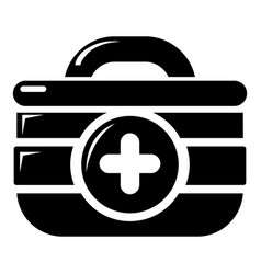 First aid kit icon simple style vector