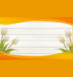 Flower background for your design tulip leaves on vector